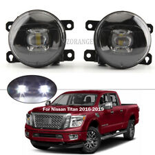 White LED Fog Lights Driving Lamp For Nissan Titan 2016-2018 2019 XD Replacement
