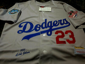 New Los Angeles Dodgers #23 Kirk Gibson 1988 WS special edition Jersey Gray MENS