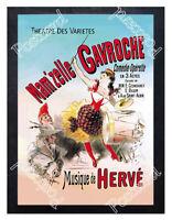 Historic Mam'zelle Gavroche Comedie-Operette 1800s Advertising Postcard
