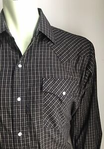ELY Cattleman Western Shirt, Laramie Plaid, Large, Excellent Condition