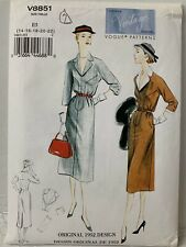 Vogue Vintage Model 1952 Design Sewing Pattern V8851 Dress Uncut Size 14-22