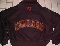 Chicago American Giants NBL Negro Baseball League Brown Acetate Button Jacket 2X