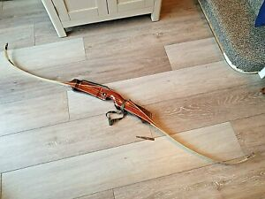 Vintage Recurve Bow, 70's / 80's, Rare Wooden Archery Marked Collectable Olympic