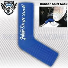 MOTORCYCLE SPORT BIKE SHIFTER SHIFT SOCK SHOES & BOOTS PROTECT SCUFF DIRT BLUE