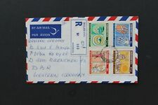 RHODESIA 1976 registered cover to Germany with occupational safety issue