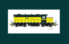"""Northern Illinois & Wisconsin GP9 #907 11""""x17"""" Matted Print Andy Fletcher signed"""
