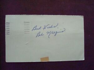 Bob Marquis 1953 Cincinnati Reds autograph on 1953 penny postcard d.2007