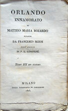 1825 – BOIARDO, ORLANDO INNAMORATO – LETTERATURA ITALIANA POESIA POEMI IN OTTAVE