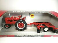 Ertl Case IH Farmall M Tractor with Disk Diecast Scale 1/16 in Box