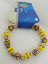 PINE SPORTS LA LAKERS HANDMADE CLAY BEADED BRACELET