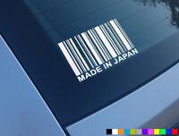 MADE IN JAPAN BARCODE FUNNY CAR STICKER DECAL JDM JAP DRIFT CIVIC HONDA EK9 EP3