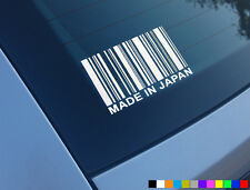 Hecho en Japón de códigos de barras divertido Auto Adhesivo Etiqueta Jdm Jap Drift Civic Honda Ek9 Ep3