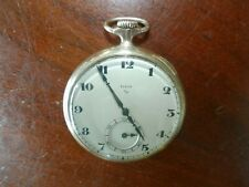 Vintage Antique 17 Jewels Elgin Gold Tone Pocket Watch w/ Wadsworth Case