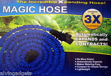 Magic Hose 125 Feet Expanding Garden Hose With Multi-Pattern Spray Nozzle
