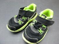NIKE SIZE 6C BABY BOYS BLACK/GREEN NYLON ATHLETIC WALKING SNEAKERS SHOES 3E