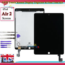 For Apple iPad Air 2 LCD Touch Screen Black Digitizer Display A1566 A1567 Tools