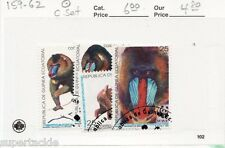 1991 Equatorial Guinea 159-62 Θ used VF  WWF Mandrill Baboon monkey stamp set