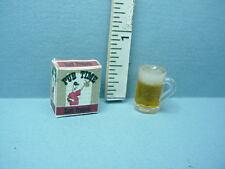 Dollhouse Miniature Mug of Beer & Pretzels #FA11164 - 1/12th Scale Farrow Ind.