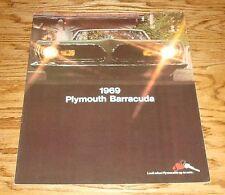 Original 1969 Plymouth Barracuda Sales Brochure 69 Sports Coupe