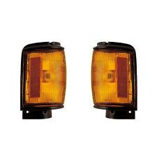 Corner Signal Lights Pair Set for 84-86 Toyota  2WD/4Runner (Black) Left & Right
