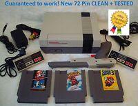 NINTENDO NES Console System Bundle NEW 72 PIN Games Super Mario 1 2 3 GUARANTEED