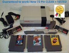 NINTENDO NES Console System Bundle NEW 72 PIN Games Super Mario 1 2 3 GUARANTEED