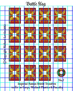 Waterslide Transfers for Warlord Games  Romans Legionary Shields (Design 7)