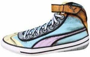 ~ RARE~ Puma 917 Mid *RETRO*  Andy Warhol Inspired Pop Art Sneaker Men's Size 10