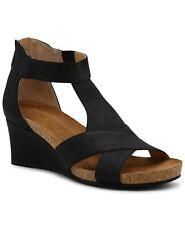 NEW Adrienne Vittadini SANDALS TRIBUTE Thayer Fabric Open Toe Black SZ 8.5 SHOES