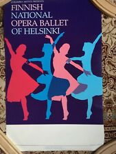 Finnish National Opera Ballet of Helsinki Poster