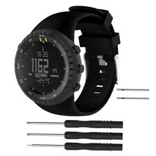 UK Replacement Silicone Watchband Band Strap For Suunto Core All Black Sport