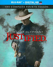 Justified: The Complete Fourth Season 4 Four (Blu-ray Disc, 2013, 3-Disc Set)
