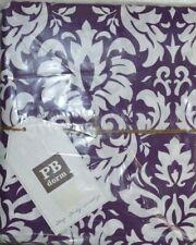 $79 New Pottery Barn Dorm Damask Duvet Cover Plum White Reverse Purple Twin