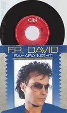 """7"""" F R DAVID -- SAHARA NIGHT"""