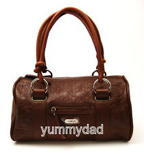 MIMCO MONTAGUE DAY LEATHER BAG IN COGNAC TEAK BROWN BNWT RRP$399