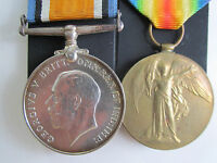 Canadian WW1 British War&Vic Medal pair  Pte. WL Gearing Canadian Army Ser. Cor.