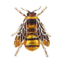 Vintage Enamel Bee Brooch Pin Shirt Animal Metal Pin Clothing Accessories ZY