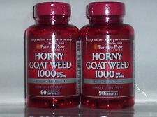 HORNY GOAT WEED ENHANCES MEN'S SEXUAL PERFORMANCE 1000MG 180 CAPSULES 2 BOTTLES