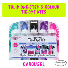 Tie Dye Kit 7 Tulip 5 colour DIY CAROUSEL pack FREE POST-dyes up to 30 projects