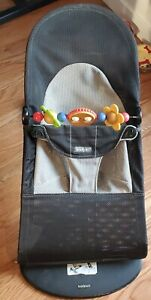 BabyBjorn Soft Bouncer - Black/Gray with toy