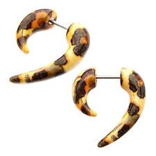 Earrings fake faux tapers AS PAIR body piercing jewelry ear w64 leaoprad claw
