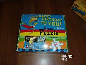 "DR. SEUSS ""HAPPY BIRTHDAY TO YOU"" JIG SAW 48 PIECE PUZZLE"