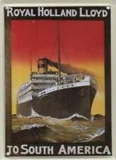 Metalen Kaart/Tin-Card/Blechkarte - Royal Holland Lloyd (020)