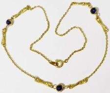 collier bijou rétro vintage relief boule planète 3D marine couleur or * 4925