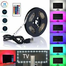 5V 5050 RGB LED Strip Streifen USB TV Hintergrund-Beleuchtung Fernbedienung