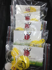 5X - Packs -  1 BLITZ Yellow Spout Cap & 1 Vent Cap, per Pack -  20 pcs total