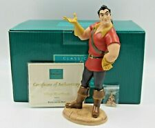 """WDCC """"Village Heartthrob"""" Gaston from Beauty and the Beast in Box COA and Pin"""