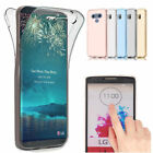 360° Full Cover Gel Shockproof Soft TPU Case Clear Protective For LG G6 G5 G4