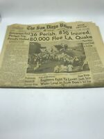 San Diego Union Home Edition Newspaper February 10, 1971 Vintage