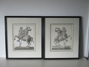 2 Framed Prints, Roman Solder on Horse, Back and Front Views